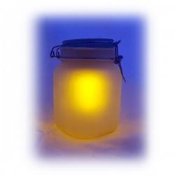 Bocal lumineux solaire bleu et jaune
