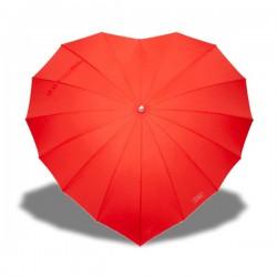 Parapluie en forme de cœur rouge