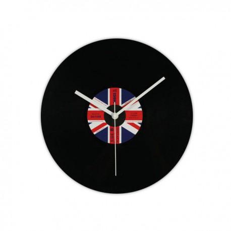 Horloge disque drapeau du Royaume-Uni