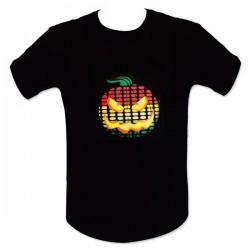 T-shirt lumineux imprimé citrouille