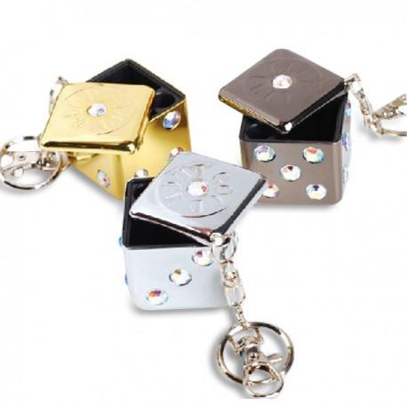 Mini cendrier porte-clés en forme de dé