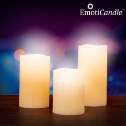 Bougies de cire à flamme LED