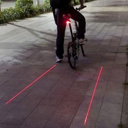 Feux arrière de vélo bandes cyclables