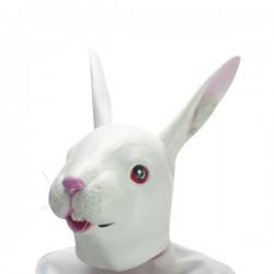 Masque de lapin blanc