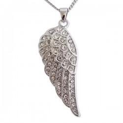 Collier avec pendentif aile d'ange