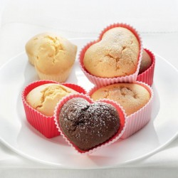 Moule silicone 6 muffins coeur