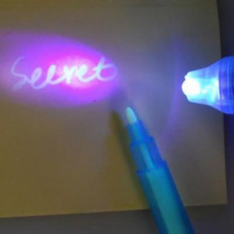 Stylo UV à encre transparente