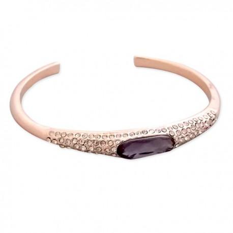 Bracelet doré avec strass et faux cristal violet