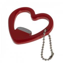 Porte-clés décapsuleur en forme de cœur
