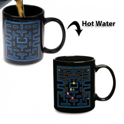 Tasse thermo-changeante jeu d'arcade Pacman