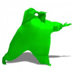 Costume gonfable homme vert