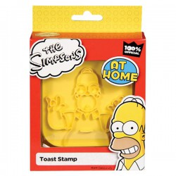 Tampon toast portrait d'Homer Simpson