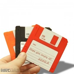 Dessous de verre disquettes colorées x 6