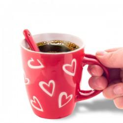 Tasse cœur avec petite cuillère