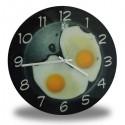 Horloge murale 2 oeufs sur le plat
