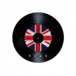 Range-clés disque vinyle avec motif drapeau britannique