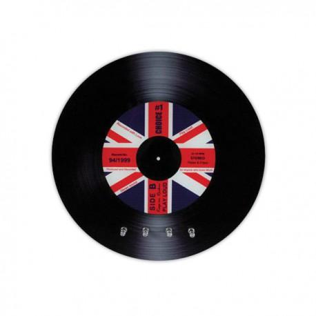 Range cl s disque vinyle avec motif drapeau britannique for Decoration porte disque 33t