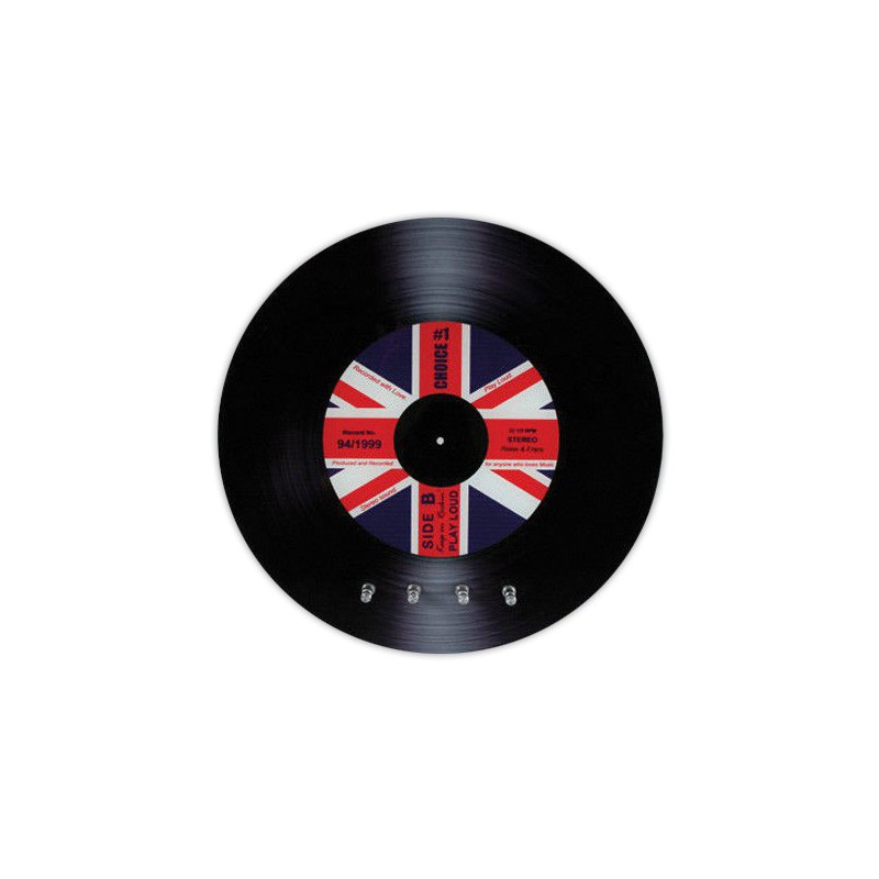 range cl s disque vinyle avec motif drapeau britannique. Black Bedroom Furniture Sets. Home Design Ideas