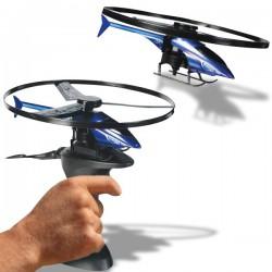 Hélicoptère plastique avec base de lancement
