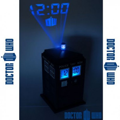 Réveil à projection TARDIS Dr Who