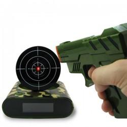 Réveil matin à cible avec pistolet laser
