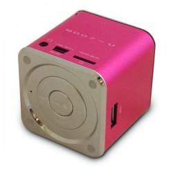 Mini haut-parleur cube multisupport