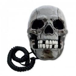 Téléphone insolite tête de mort