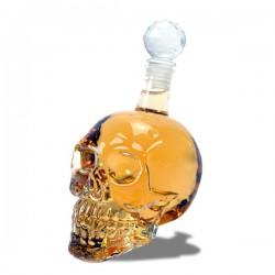 Bouteille whisky en forme de crâne humain