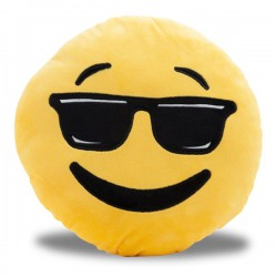 Oreiller Smiley aux lunettes noires