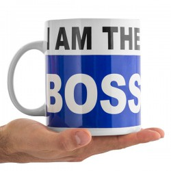 "Tasse grande taille ""I am the boss"""