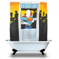 Rideau de Douche Cabine Téléphonique Superman
