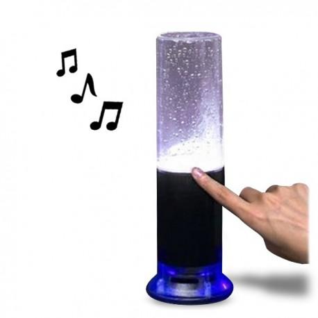 Enceinte à fontaine lumineuse tactile
