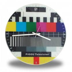 Horloge murale télévision mire