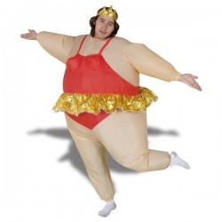Costume gonflable danseuse à tutu doré