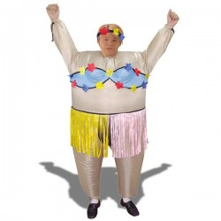 Déguisement gonflable danseuse hawaïenne