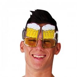 Paire de lunettes chope de bière