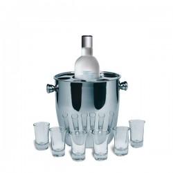 Seau à glace et verres