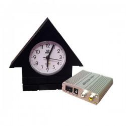 Horloge maisonnette caméra espion de surveillance