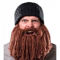 Bonnet à longue barbe rousse amovible