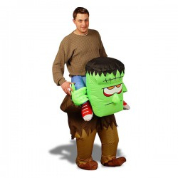 Costume monstre de Frankenstein vous portant sur son dos