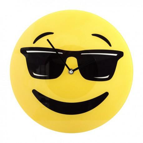Horloge murale émoji lunettes de soleil