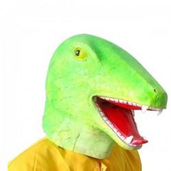 Masque de dinosaure vert
