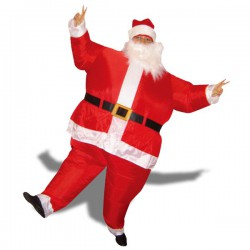 Costume gonflable de Père-Noël