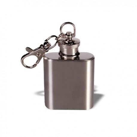Mini flasque en métal porte-clés