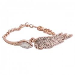 Bracelet doré aile incrustée de strass