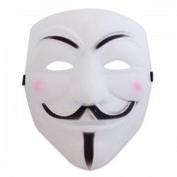 Masque blanc « Anonymous »