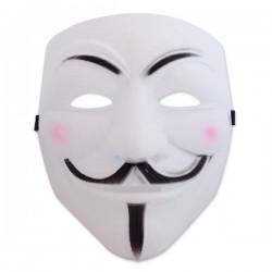 Masque blanc « Anonymous »