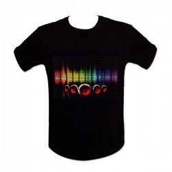T-shirt avec enceintes colorées à LEDs