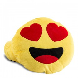 Coussin smiley amoureux