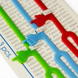 Pack de 3 marque-pages colorés doigts pointés